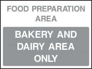 Fridge and Food Preparation Area