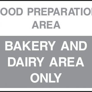 Fridge and Food Preparation Area