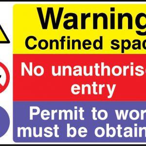 Warn0073 Danger Hazardous Substances Sign Sticker Health Safety Warning
