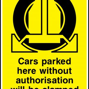 Warning Signs For Unauthorised Vehicles