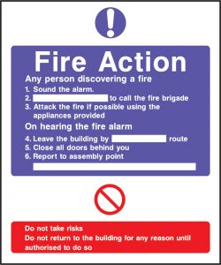 Fire action sound the alarm sign | Wedosafetysigns | fire safety signage | health and safety signage | ACP | Corrugated Plastic | Rigid PVC | Self Adhesive Vinyl