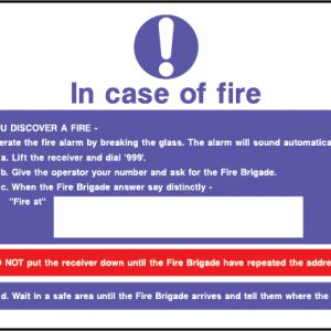 Fire action in case of fire sign | Wedosafetysigns | fire safety signage | health and safety signage | ACP | Corrugated Plastic | Rigid PVC | Self Adhesive Vinyl