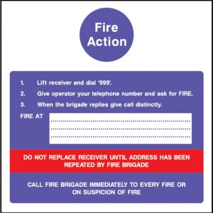 Fire action do not replace receiver sign | Wedosafetysigns | fire safety signage | health and safety signage | ACP | Corrugated Plastic | Rigid PVC | Self Adhesive Vinyl