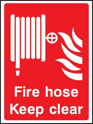 Fire equipment fire hose keep clear sign | Wedosafetysigns | fire safety signage | health and safety signage | ACP | Corrugated Plastic | Rigid PVC | Self Adhesive Vinyl