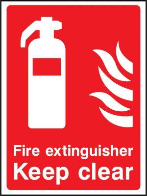 Fire extinguisher keep clear sign | Wedosafetysigns | fire safety signage | health and safety signage | ACP | Corrugated Plastic | Rigid PVC | Self Adhesive Vinyl