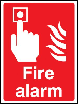 Fire alarm sign | Wedosafetysigns | fire safety signage | health and safety signage | ACP | Corrugated Plastic | Rigid PVC | Self Adhesive Vinyl