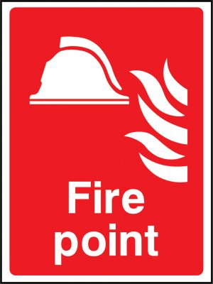 Fire point sign | Wedosafetysigns | fire safety signage | health and safety signage | ACP | Corrugated Plastic | Rigid PVC | Self Adhesive Vinyl