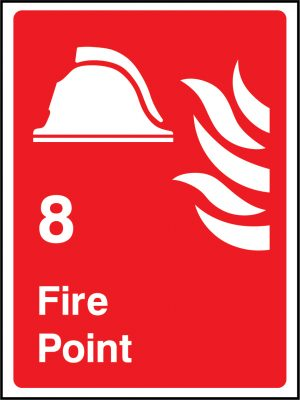 8 fire point sign | Wedosafetysigns | fire safety signage | health and safety signage | ACP | Corrugated Plastic | Rigid PVC | Self Adhesive Vinyl